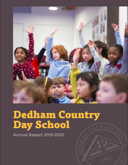2019-2020 Cover page of the DCD Annual Report.