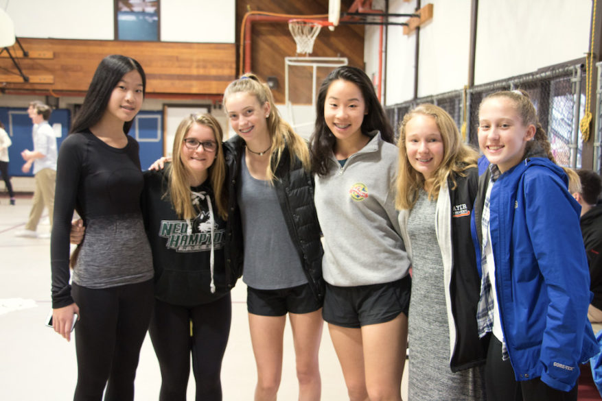 Alumni gather for volleyball game